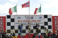 THE WSK CHAMPIONS CUP ENDS IN MURO LECCESE (I). THE WINNERS ARE NICKLAS NIELSEN (DK – TONY KART-VORTEX KF), LOGAN SARGEANT (USA – FA ALONSO-VORTEX KFJ) AND DENNIS HAUGER (N – CRG-LKE-VEGA 60 MINI) Gallery