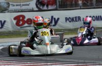 ON THE CIRCUIT OF SARNO AT THE WSK SUPER MASTER SERIES, THE POLE-SITTERS ARE NIELSEN (DNK - TONY KART-VORTEX KF), CAMPONESCHI (I - TONY KART-VORTEX KZ2), AND MULLER (I – ENERGY-TM 60MINI). MAINI (IND - TONY KART-VORTEX) IS THE BEST IN KFJ.