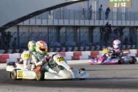 AT THE WSK FINAL CUP AT THE ADRIA KARTING RACEWAY THE POLE SITTERS ARE ARDIGÒ (I – TONY KART-VORTEX KZ2), NIELSEN (DK – TONY KART-VORTEX KF) AND BLOMQVIST (S – TONY KART-VORTEX KFJ). THE BEST IN 60MINI ARE MARSEGLIA AND MICHELOTTO.